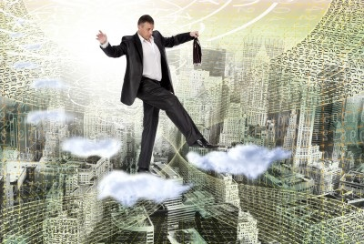 Businessman on Cloud - 123rf licensed