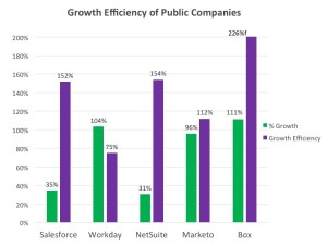 Growth Efficiency Index for Public SaaS Companiees
